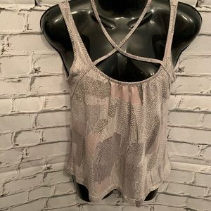 Sandwich Tank Top Gray Dots Sz S